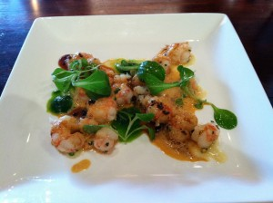 garlic shrimp at lola of great neck
