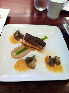 seared salmon at lola